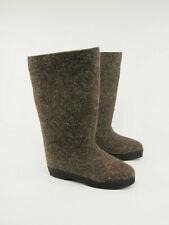 New RUSSIAN VALENKI Vintage Wool Felt Vulcanized Winter Tall Boots US 8