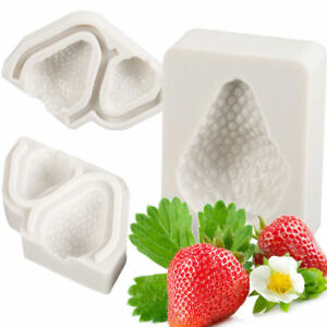 3X 3D Strawberry Cake Silicone Mold Sugarcraft Chocolate Mould Baking Pastry Set
