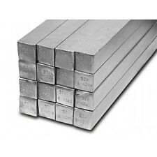 Barra Quadra diam 20x20mm acciaio inox Trafilata AISI 304  lunghezza 50cm tornio