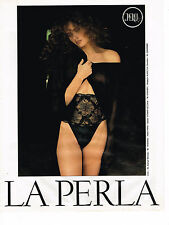 PUBLICITE ADVERTISING 054  1989  LA PERLA  sous vetements  corset