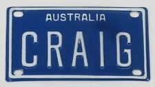 CRAIG NOVELTY NAME MINI TIN AUSTRALIAN LICENSE NUMBER PLATE