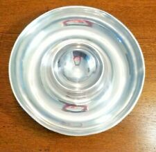 "POTTERY BARN CHIP & DIP BOWL 13 "" ROUND ALLUMINUM, GREAT SERVING PIECE MANY USES"