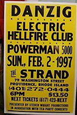 Danzig.Electric Hellfire.pwermn 5000.Block Print Concert Poster Prov. R.I.