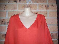 LADIES GO GIRL OVER DRESS WITH SIDE TIES 100% RAYON ORANGE ONE SIZE FITS 12-18