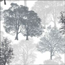 4 x Paper Napkins - Skeleton Trees in Grey - Ideal for Decoupage / Napkin Art