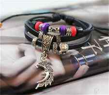 NEW Jewelry Fashion Infinity Leather Charm Bracelet Silver lots Beads Style Pick