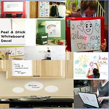 Whiteboard Removable Vinyl Sticker Dry erase white board Sheet Decal (60 x 45cm)