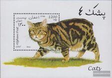 afghanistan Bloc 94 (complète edition) neuf avec gomme originale 1997 Chats