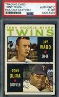 Tony Oliva ROY 64 PSA DNA Coa Autograph 1964 Topps Rookie Hand Signed