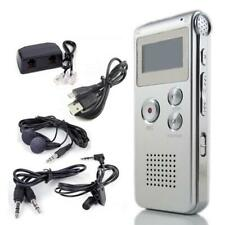 8GB Digital Audio Voice Recorder Rechargeable Dictaphone WAV MP3 Player