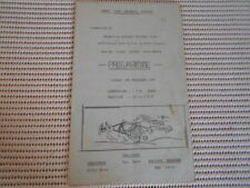 Granville Raceway Drivers Club Program for 2nd February 1964. Go Karting. Rare