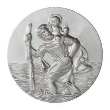Heiliger St. Sankt Christophorus Christopherus 3D Plakette 42 mm Schutzpatron