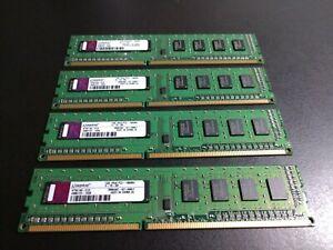 4GB - 4 Kingston 1GB 1Rx8 PC3-10600U-9-10-A0 RAM DIMM (KTW149-ELD)