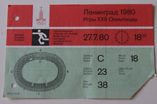Ticket collectors Olympic Moscow 1980 Football * Czechoslovakia - Cuba Leningrad