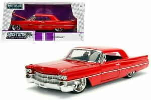1:24 1963 Cadillac - RED - Diecast  - JADA - BIGTIME CUSTOMS