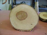 5 Baumscheiben, Holzscheibe, 25 x 3 cm, Birke, Hochzeit, Deko