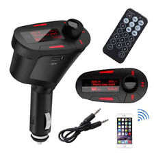 Car Kit MP3 Player Audio FM Transmitter Remote USB SD Card Aux In Dual Output E