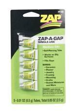 NEW ZAP Zap-A-Gap CA+ / CA Glue Single Use Tubes .01oz (5) PT105