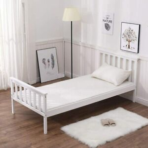 Brand New Single Bed in White 3ft Single Bed Wooden Frame Solid Pine