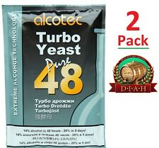 2 Pack Alcotec 48, Turbo Super Yeast, vodka, beer, wine FREE FAST DELIVERY UK