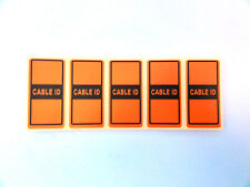 50x Cable id Tidy Labels Self Adhesive Sticky Identification Sticker Tags Orange