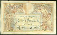 FRANCE 100 FRANCS LUC OLIVIER MERSON du 4/7/1935  ETAT:  TB  # G 48820