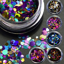 12 Box Glitter Mix Acrylic Gel Nail Art CONFETTI COCKTAIL Glitter Sequins Decor