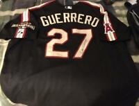 Vladimir Guerrero Majestic SIGNED all star jersey Los Angeles Angels of Anaheim