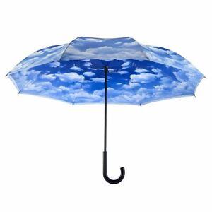 Galleria - Clouds Stick Reverse Close Umbrella - 23018RC