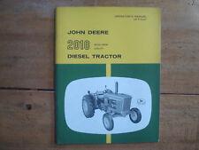 John Deere 2010 Row-Crop, Utility Diesel Tractor Operator's Manual