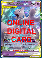 1X Mewtwo & Mew GX 71/236 Unified Minds Pokemon TCG Online Digital Card
