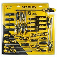 Stanley Set Screwdrivers + Inserts cross Cutting Torx Tags 69 Pieces