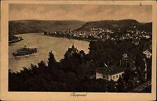 Boppard am Rhein s/w AK ~1920/30 Totale  Blick auf den Rhein Schiff ungelaufen