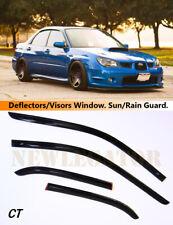 For Subaru IMPREZA 2000-08 Sd/Wagon Windows Visors Deflector Sun Rain Guard Vent