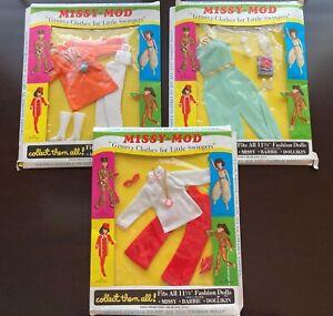 MIssy-Mod Fashions NRFB MIB 3 Groovy Barbie Clone Outfits