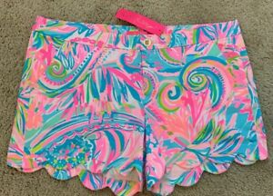 NWT Lilly Pulitzer Buttercup Stretch Short In Carnivale Coral Size 4