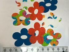 4 Pre Cut Quilting Quilt Appliques Flower Power Daisy Iron On Applique