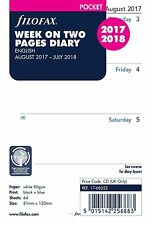 Filofax 2017 - 2018 Pocket size Diary Week on Two Pages Academic Mid Year   1013
