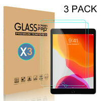 3-Pack Tempered Glass HD Screen Protector  For iPad 10.2 inch 2019 7th Gen Clear