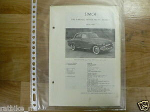 S03-SIMCA TYPE 9 ARONDE, ARONDE P60 EN P61 1954-1961 -K