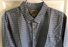 Mens Buffalo Jackson Trading Co. Blue Gray Check Long Sleeve Shirt $85 XL NWOT