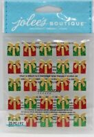 Christmas Gifts Presents Repeats Glitter & Gem Accents Jolee's 3D Sticker