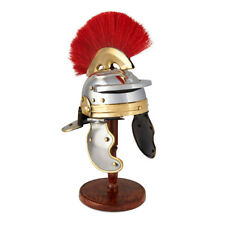 Roman Centurion Helmet , Medieval Knight Officer Armor Costume W/ Red Plume
