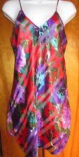 Red Purple Teddy Neglige Pajama Vintage Lucie Ann II Women's Medium
