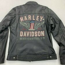 NWT HARLEY DAVIDSON MENS LONGWAY WINGED #1 LEATHER JACKET SMALL 98098-15VM