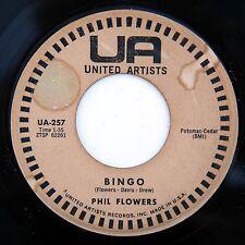 HEAR Phil Flowers 45 Bingo/What Did I Do UA 257 R&B popcorn uptempo bopper