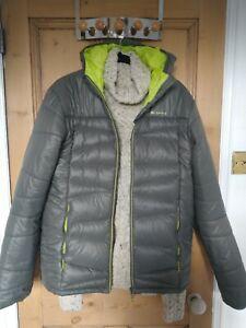 Decathlon Quechua  Lightweight Down Jacket Size XL Grey, Green lining