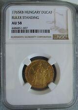 1765 KB Hungary Gold Ducat NGC AU-58 Ruler Standing