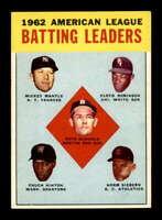 1963 Topps #2 AL Batting LL EXMT X1666119