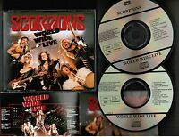 SCORPIONS World Wide Live JAPAN 1st press 2CD w/24-p BOOKLET TOCP-6941/42